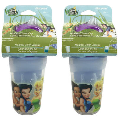 Disney Fairies Insulated Straw Cup 2 Pack