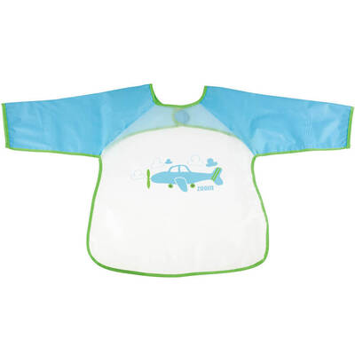 Baby Toddler Bib Aeroplane/Airplane Long Sleeve Water Food Resistent Smock
