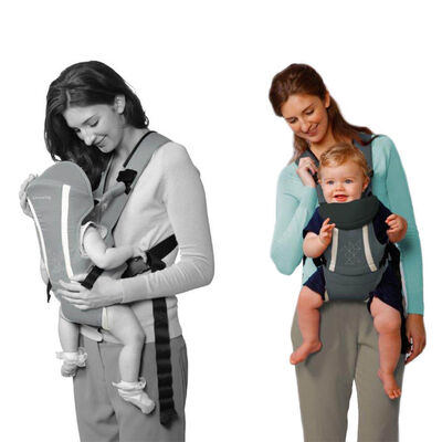 Playette Grey Baby/Infant Carrier 4 Positions Ajustable/Padded/Safety System