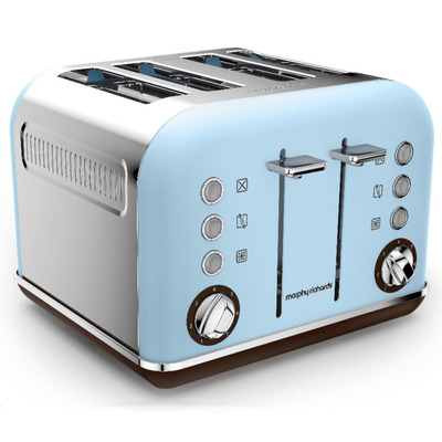 Morphy Richards 242100 4 Slice Accents Azure Toaster