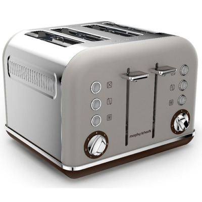Morphy Richards 242102 4 Slice Accents Pebble Brown Toaster