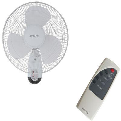Heller 40Walr 40Cm 3 Blades Oscillating Wall Fan/R