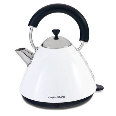 Morphy Richards 43687 1.5L Kettle White Traditional Whistle Cordless Base/Retro