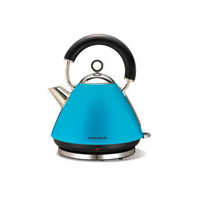 Morphy Richards 43864 Cyan Blue 1.5L Kettle Traditional Whistle Cordless Base