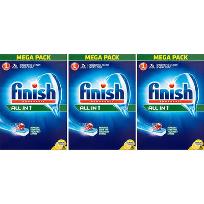 Finish Lemon Powerball All in One 252 Tablets