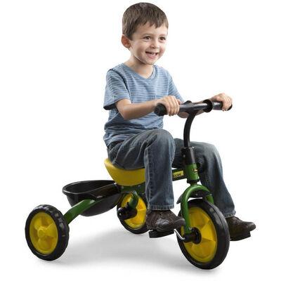 John Deere Ride On Pedal Trike Tricycle Bike Baske