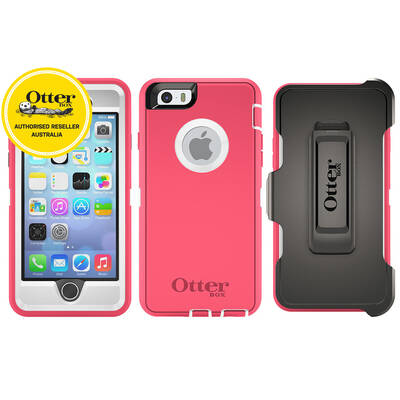 Otterbox Pink Defender Heavy Duty Tough Case Cover/Bump Shock For Iphone 6 4.7""