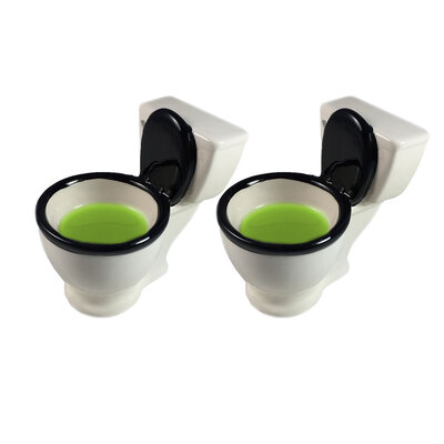 2pk BigMouth Toilet Shot Glasses