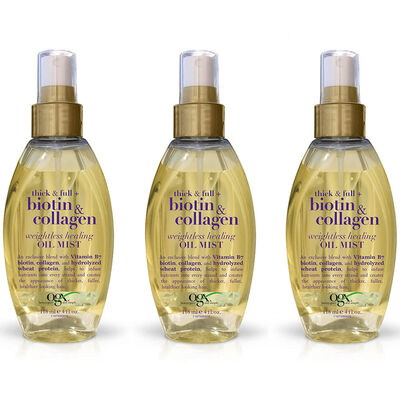 3x OGX Organix Biotin Collagen Hair Treatment Oil