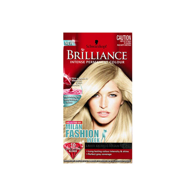 Schwarzkopf Brilliance Intense Permanent Hair Colour Is Extra Long Lasting & Provides Perfect Grey Coverage Colour 10  Cool Crystal Blonde