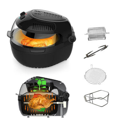 Large 10L Air Fryer With Food Rotation