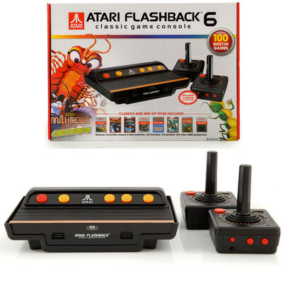 ATARI Flashback 6 Classic Video Game Console/ 100 Built-In Games w/ Controllers