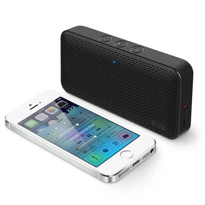 Black Iluv Mini Slim Portable Bluetooth Speaker For Apple/Android Smartphones