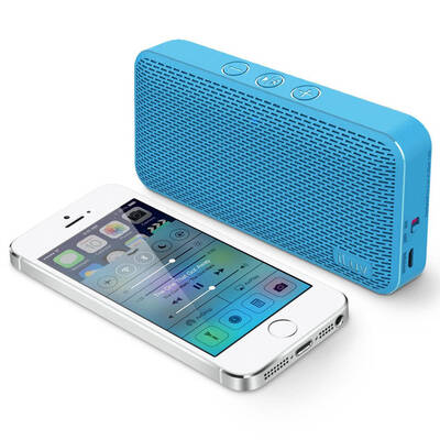 Blue Iluv Mini Slim Portable Bluetooth Speaker For Apple/Android Smartphones