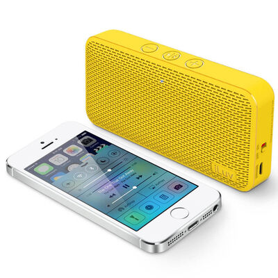 Yellow Iluv Mini Slim Portable Bluetooth Speaker For Apple/Android Smartphone