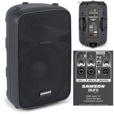 Samson Auro X12D Loudspeaker Speaker System For Mic/Instruments/Gigs/Events 400W