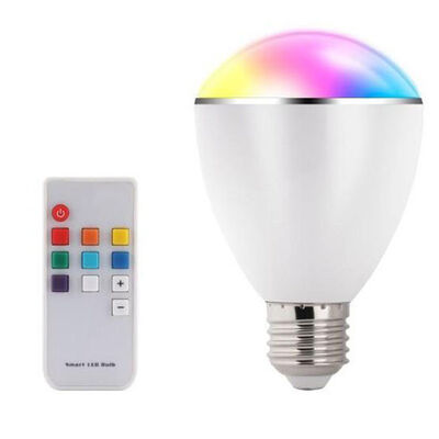 Smart LED Light Bulb Colour Changing Dimmable Lightbulb E27 Globe Remote Control