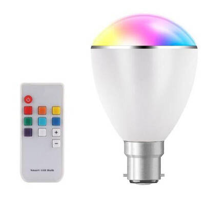Smart LED Light Bulb Colour Changing Dimmable Lightbulb B22 Globe Remote Control