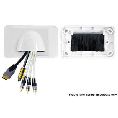 White Front Bullnose Wall Plate Cover In Wall Wires Bull Nose Cable Management