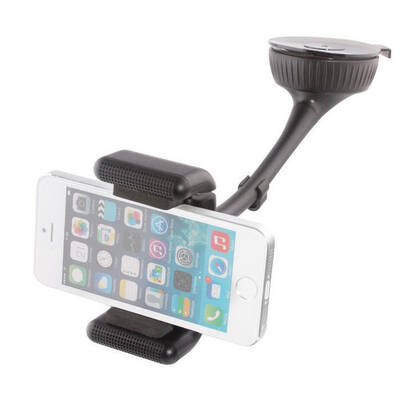 Bsr Car Smartphone Holder/Bluetooth Handsfree Speaker/Charger For iPhone/Samsung