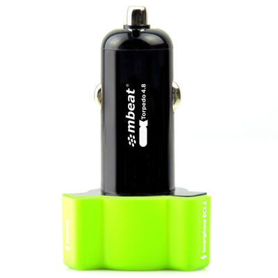 mbeat Triple Port Rapid Car Charger Green