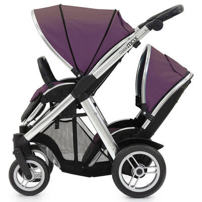 Oyster Max Stroller and Tandem Seat Purple