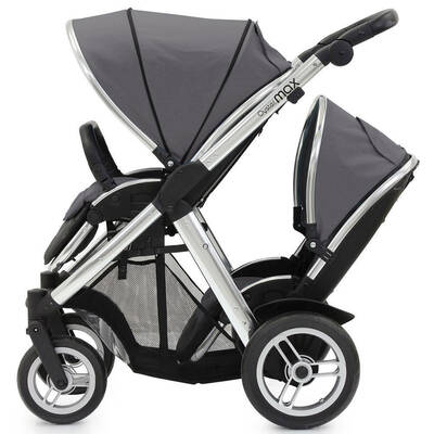 Oyster Max Stroller and Tandem Seat Grey