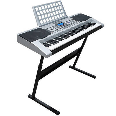 Lenoxx Combo Stand + 61 Keys Electronic keyboard/Electric Piano/Power Adaptor