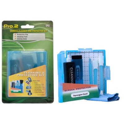 Pro2 Cleaning Brush Fluid Kit Pack for Camera, SLR, Smartphone, Tablet, SD Card