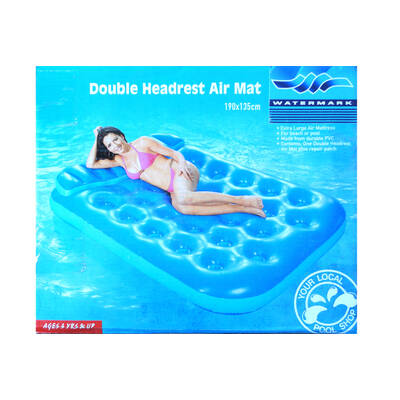 190X135Cm Outdoor Double Headrest Inflatable Air Mattress Floater Floating For Sea Ocean River Lake Swimming Pool