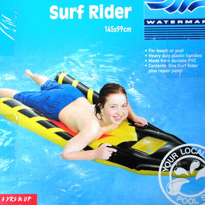 Kids/Children Inflatable Float Air Mat Boogie Surf Rider/Ride On Water Swimming Pool/Beach