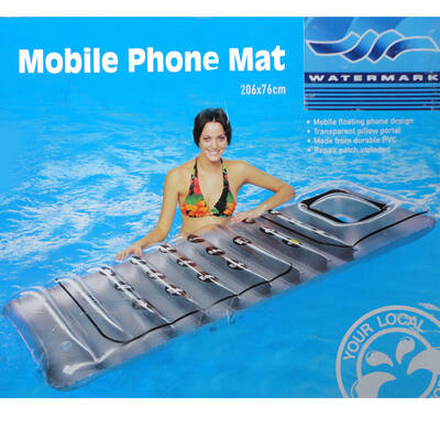 Inflatable Air Mobile Phone mat Mattress float flo