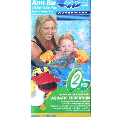 Sz 1 Inflatable Baby Armband Arm Band Ring Aquatic Education Swimming Pool Float
