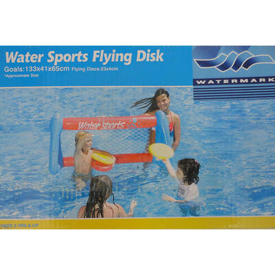 Water Sports Floating Goal/Inflatable Frisbee/Disc Pool Fun Game For Family/Kids
