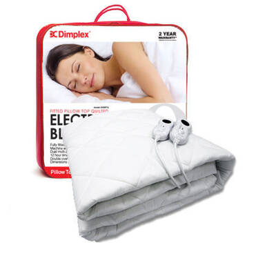 Dimplex Machine Washable Electric Blanket Fitted Q