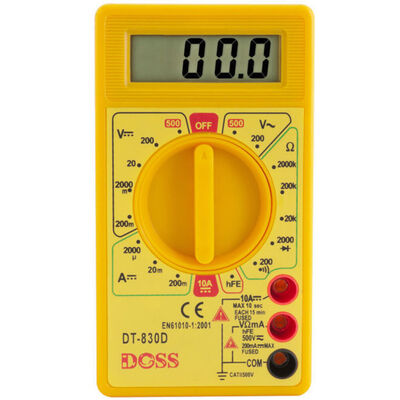 Lcd Digital Multimeter Power Electricity/Current Tester 200V 1000V Safety Probes