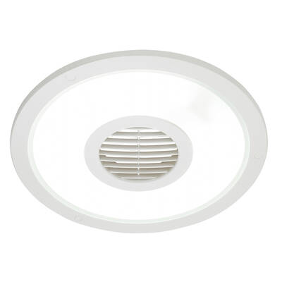 White Heller Round 250mm Ceiling Light/Exhaust Fan
