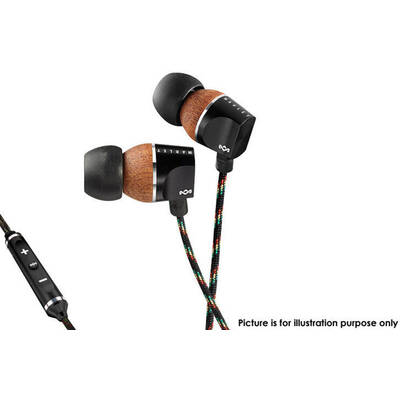 House Of Marley Em-Fe023-Mi Zion In-Ear Headphones Remote & Mic For Ipod Iphone