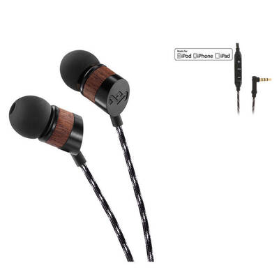 House Of Marley Em-Je033-Mi In-Ear Earphones Headset Remote/Mic For Ipod Iphone