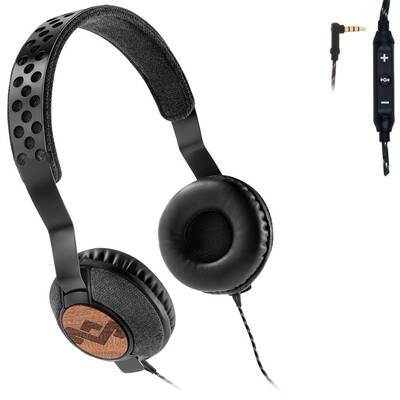 The House Of Marley Liberate Midnight On Ear Headphones