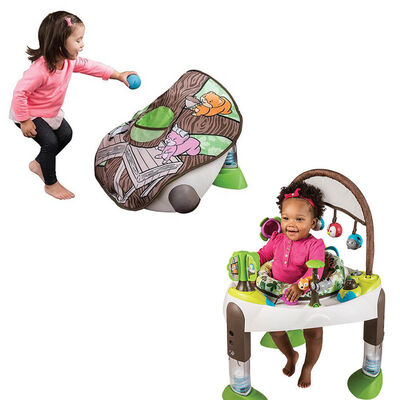 Evenflo Exersaucer Fast Fold Go Travel Baby Child Activity Gym Toy Bouncer 0-36m