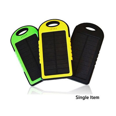 Assorted Dual Port Solar Powered Power Bank