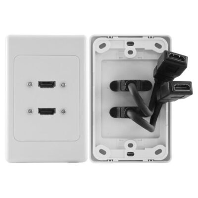 Pro2 HDMI 2 Port Wall Plate