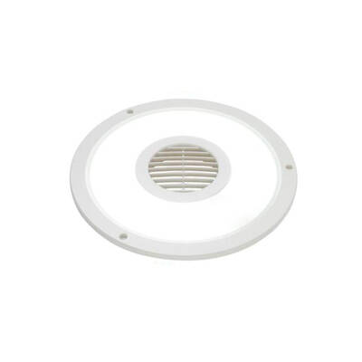 Heller Hefl10Rw 10 Inch Exhaust Fan And Light - White - Round