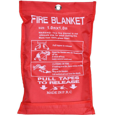 Fire Blanket 1x1m Emergency Survival Safety Safe Class F Fires Clothing Cooking