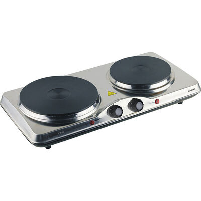 Maxim Portable Electric Dual hot Plate Cook Top/2 Hotplate Cooktop Stove/Caravan