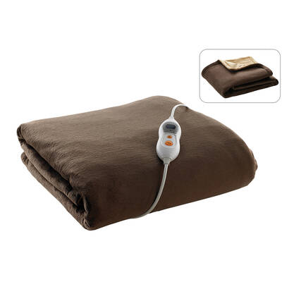 1.6M Washable Electric Heated/Heater Throw Rug Bla