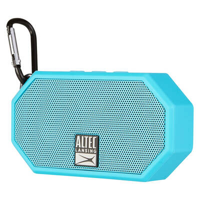 Altec Lansing Blue Mini H20 Bluetooth AUX Wireless Portable Waterproof Speaker