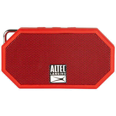 Altec Lansing Red Mini H20 Bluetooth AUX Wireless Portable Waterproof Speaker