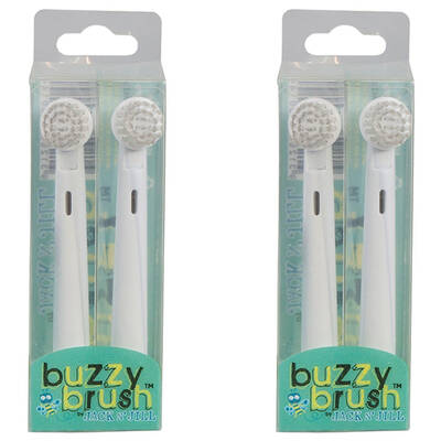2x 2 Jack N Jill Replacement Heads Buzzy Brush Chi